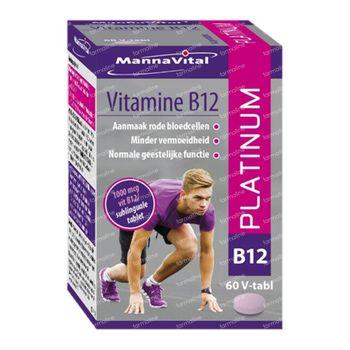 Mannavital Vitamine B12 Platinum 60 comprimés