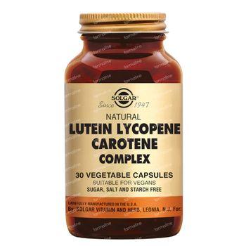 Solgar Lutein Lycopene Carotene Complex 30 capsules