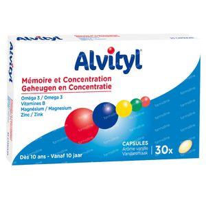 Alvityl Geheugen & Concentratie 30 St Capsules