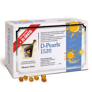 Pharma Nord D-Pearls 1520 + 20 Capsules For FREE 100+20 capsules