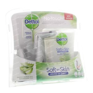 Dettol Healthy No Touch Box Silver + Aloe Vera 1 item