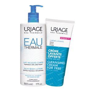 Uriage Lait Veloute Körper + Reinigungscreme GRATIS 500+200 ml