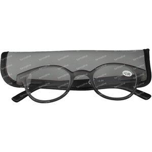 Pharmaglasses Reading Glasses Round Grey/Black +2 1 item