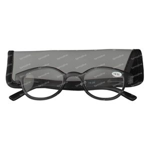 Pharmaglasses Reading Glasses Round Grey/Black +4 1 item
