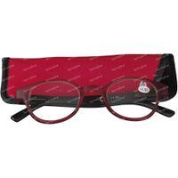 Pharma Glasses Lesebrille Round Rot/Schwarz+1.50 1 st