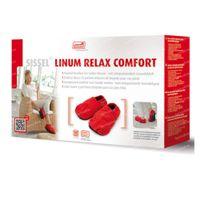 Sissel Linum Relax Warmtepantoffels Met Lijnzaadvulling Comfort Maat 36-40 Rood 1 st