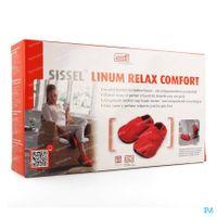 Sissel Linum Relax Warmtepantoffels Met Lijnzaadvulling Comfort Maat 41-45 Rood 1 st