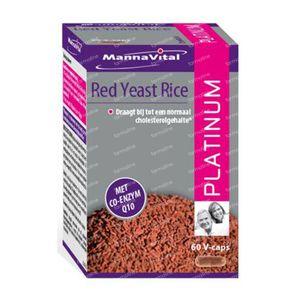 Mannavital Rode Gist Rijst Platinum 60 capsules