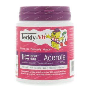 Teddy-Vit Acerola Beertjes 160 mg 50 stuks