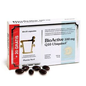 Pharma Nord BioActive Q10 100mg + 20 Capsules For FREE 60+20 capsules