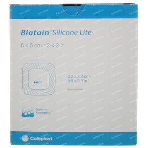 Biatain Silicone Lite 3452 5x5cm 5 stuks