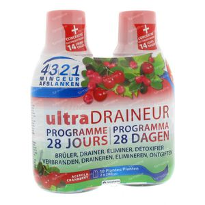 Afslanken 4 3 2 1 Draineur Acer-Detox 560 ml