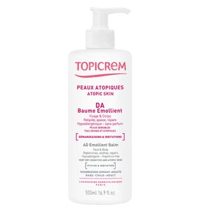 Topicrem DA Balsem Lichaam Gelaat 2x500 ml Balsem