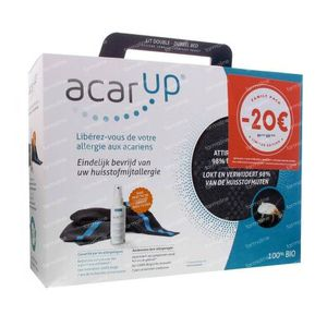 Acar'Up Anti-Acariens Family Pack 2 Linges Lit Double 200 ml Spray