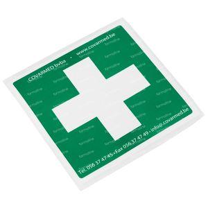 Sticker Green White Cross First Aid 10x10 cm 1 item