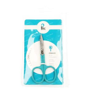 Plic Nail Scissors Curved Turquoise 1 item