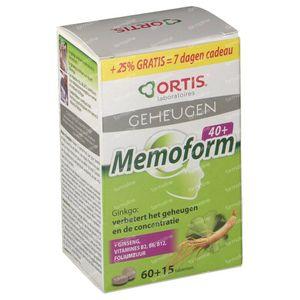 Ortis Memoform 40+ + 15 Comprimés GRATUIT 60 + 15 St Comprimés