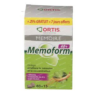Ortis Memoform 40+ + 15 Compresse GRATIS 60 + 15 St Compresse