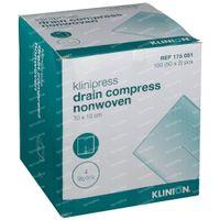 Klinion Drain Kompres 10x10cm 4 Lagen 175051 2x50 st