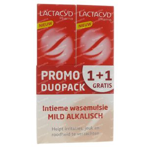 Lactacyd Pharma Alkalisch Promo 1+1 Gratis 2x250 ml