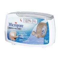 3M Micropore Surgical Tape Dispenser Huidskleur 1,25cm x 9,1m 1533P-0D 1 pleister