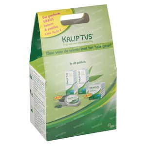 Kalip'tus Set Lotion 30 ml + Balsem 50 ml + Pastilles 30 + 50 ml