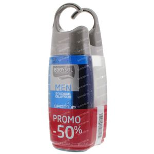 Bodysol Men Gel Doccia Sport + Stressless 2ndo Al -50% 2 x 250 ml