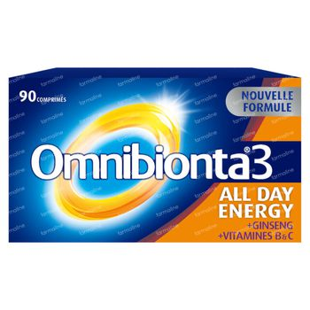 Omnibionta 3 All Day Energy Multivitamine 90 comprimés