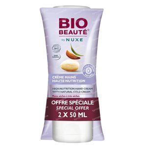 Bio Beauté By Nuxe Crème Mains Haute Nutrition Au Cold Cream Naturel Duo 2 x 50 ml