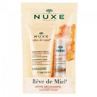 Nuxe Rêve de Miel Hand- & Nägelcreme + Feuchtigkeitsspendende Lippenbalsam 1  shaker