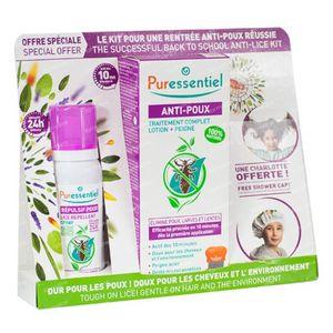 Puressentiel Répulsif Anti-Poux Spray + Anti-Poux Lotion + Peigne + Capuche Gratuit 75 + 10 ml