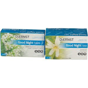 Dr Ernst Good Night 42 Comprimés + Good Night Tea 20 Sachets 42 + 20 pièces