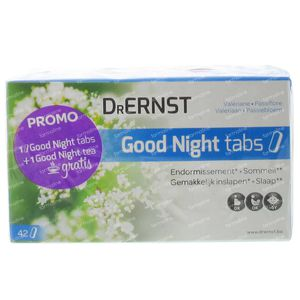Dr Ernst Good Night 42 Tabletten + Good Night Tea 20 Zakjes 2 stuks