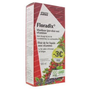 Floradix Elixir Lowered Price Promo 500 ml