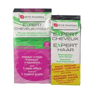 Forté Pharma Expert Cheveux Tripack + Expert Cheveux Shampooing 200ml 3 x 28 St Comprimés