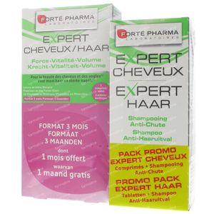 Forté Pharma Expert Haar Tripack + Expert Haar Shampoo 200ml 3 x 28 tabletten