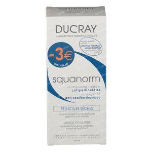 Ducray Squanorm Verzorgende Antiroosshampoo - Droge Schilfertjes Verlaagde Prijs 200 ml