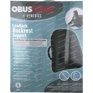 Obusforme Lowback Backrest Support Black 1 item
