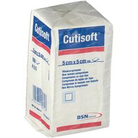 Cutisoft Coton Non Stérile 5x5cm 100 st