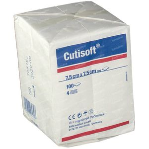 Cutisoft Cotton Non Steril 7,5x7,5cm 100 pieces