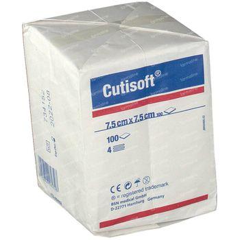 Cutisoft Katoen Niet Steriel 7,5x7,5cm 100 stuks