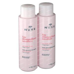 Nuxe Eau Démaquillante Micellaire Aux Pétales De Rose Duo 2 x 400 ml