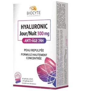 Biocyte Hyaluronic Jour & Nuit 300mg 30 + 30 capsules