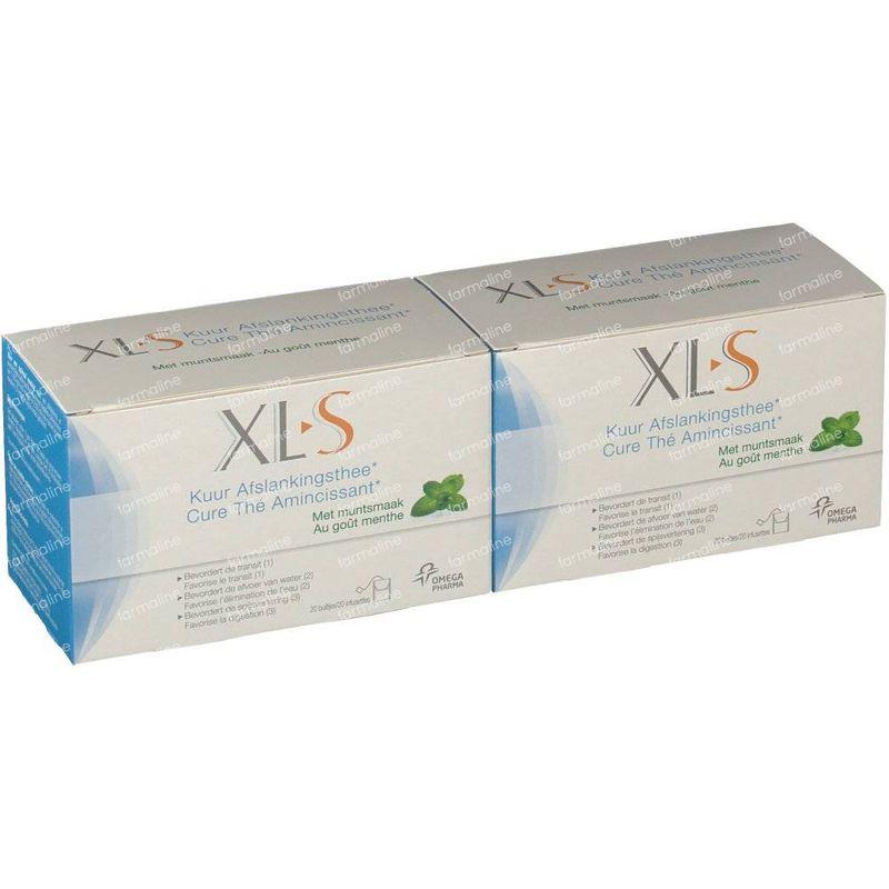 Xls Cure Thé Amincissant Froid Gout Citron 20 Sachets