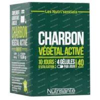 Nutrisanté Les Nutri'sentiels Charbon Végétal Activé 40  capsules