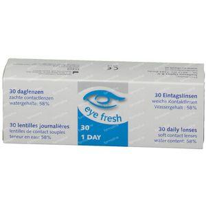 EyeFresh 1D Lentille -6,50 30 pièces