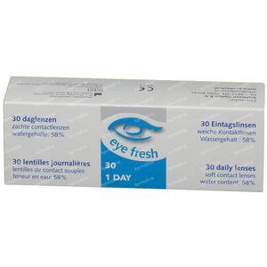 EyeFresh 1D Lentille -5,50 30 pièces