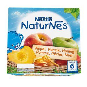 Nestlé NaturNes Appel Perzik Honing +6 Maanden 4x100 g