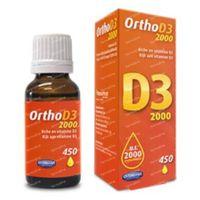 Ortho D3 2000IU 450 druppels 20 ml druppels