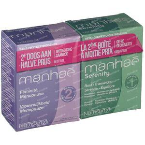Nutrisante Manhae 2 Maanden + Manhae Serenity Aan -50% 2x60 Stuks Tabletten